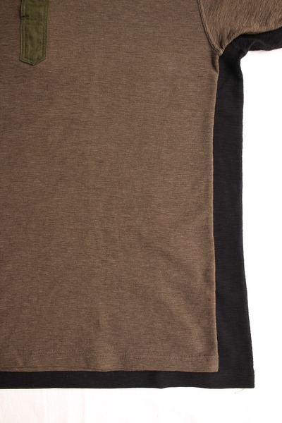 SLAB KNIT HENLEY NECK TEE