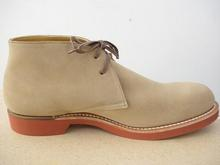 SUEDE CHUKKA BOOTS with RED SOLE