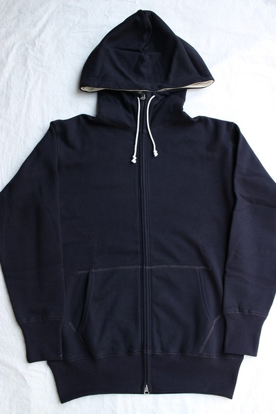 HIGH-NECKED FULL ZIP SWEAT PARKA