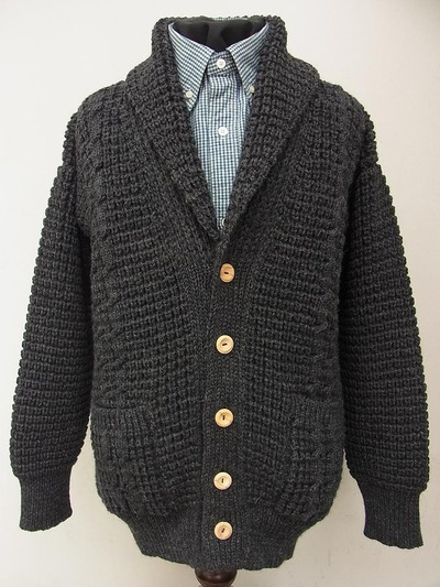 SHAWL COLLAR CARDIGAN (POPCORN&CABLE)