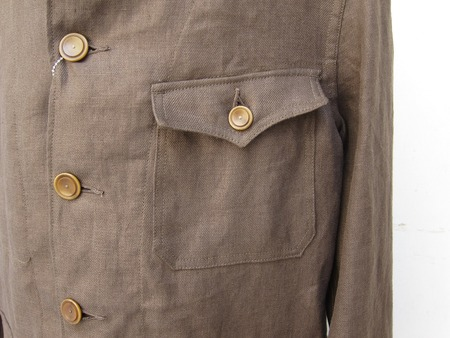 FRENCH WORK STYLE LINEN COVERALL