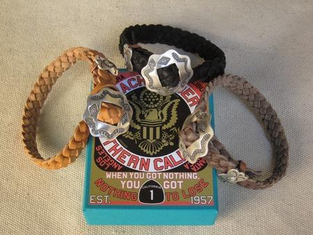 Mid 1960s Cowhide Braided Bracelet