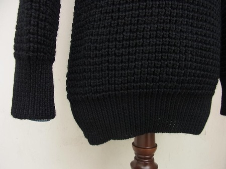 CREW NECKED FISHERMAN SWEATER (POPCORN)
