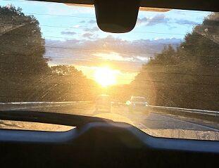 日の出とともに6