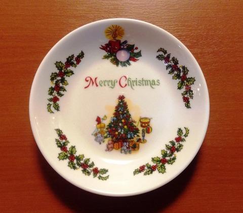 ポーセリンクリスマス小皿