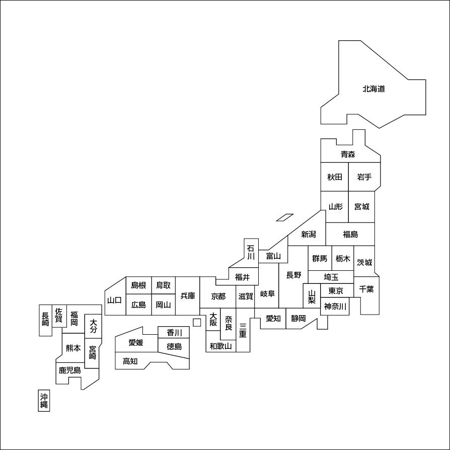 パズル 地図パズル : ... を描いた地図を作ってみた