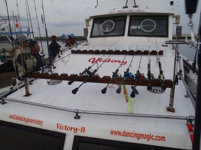 出陣前のビクトリー船上