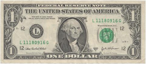 1ドル紙幣のワシントンの秘密