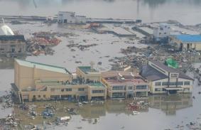 気仙沼中央公民館、津波浸水