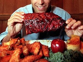 eating-huge-meat-for-dinner