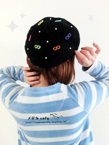 メガネベレー帽ブラック1
