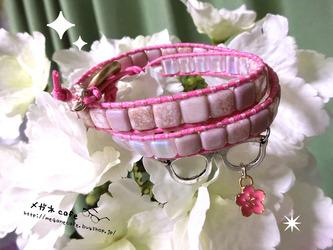 眼鏡桜のラップブレス1