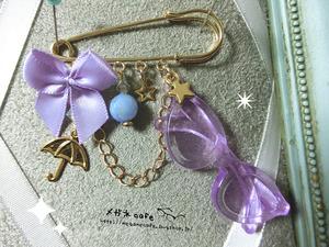 眼鏡ピン_rain_purple