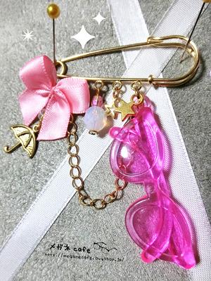 眼鏡ピン_rain_pink
