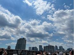 【 東京五輪】ブルーインパルス、東京上空に「五輪マーク」描く 5色のカラースモークで57年ぶり