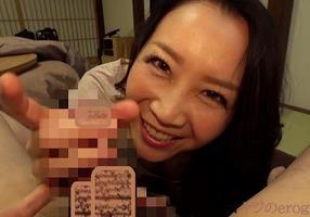 デカチン大好き、桐島美奈子!スロー手コキにバキュームフェラ、玉舐めも・・・