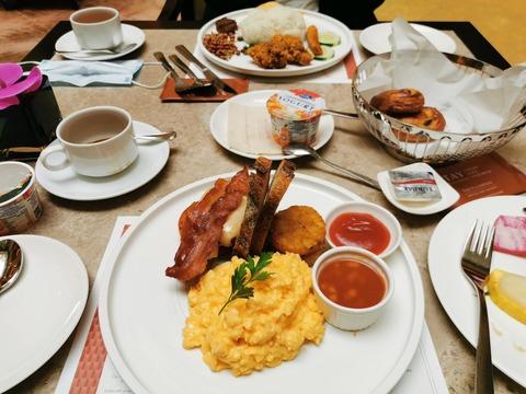 The Fullerton hotel 朝食 宿泊記 シンガポール