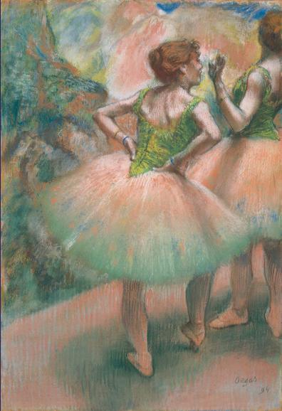 踊り子たち、ピンクと緑