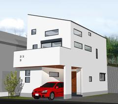 向ヶ丘遊園の家赤い車