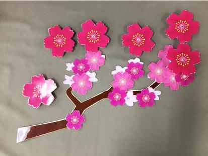 光る桜 完成直前