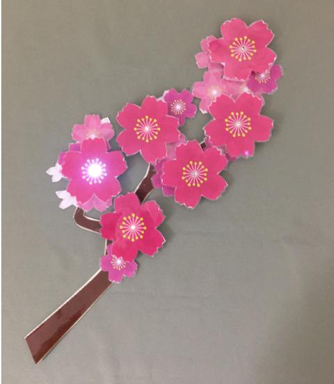 光る桜 完成