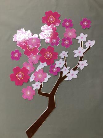 桜ラミネートカット