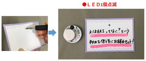 LED1個点滅