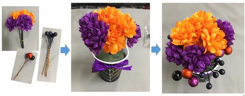 ③造花を挿す