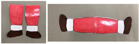 サンタの足