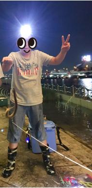 ウナギが釣れた
