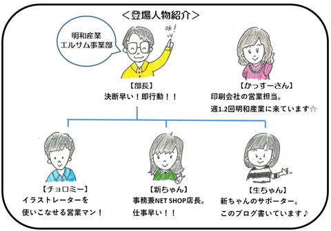 インバウンドPOP 登場人物紹介
