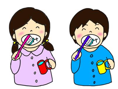 男の子女の子歯磨き上半身POP