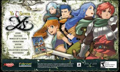 イース7 PSP eng
