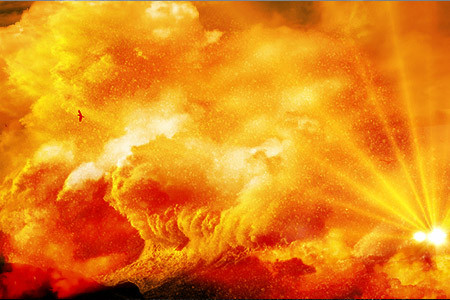 光の津波は、胴回し蹴りのように一瞬で押し寄せ