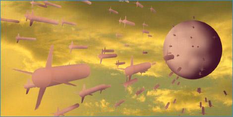 肉ミサイル反撃