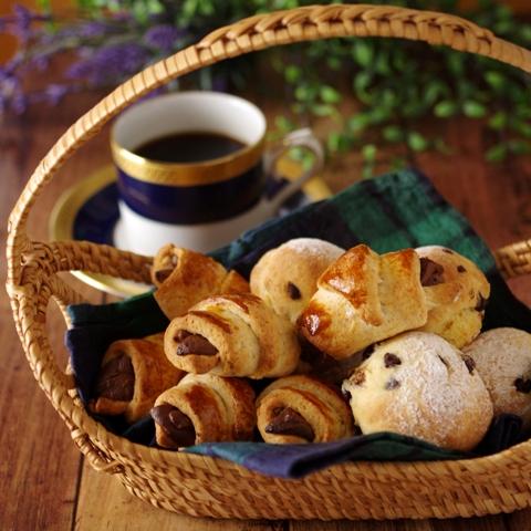 ホットケーキミックスでカフェ朝食パン2種01b1111