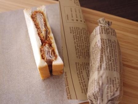 カツサンドと紙コップキャラ弁当カービィとワドルディ01