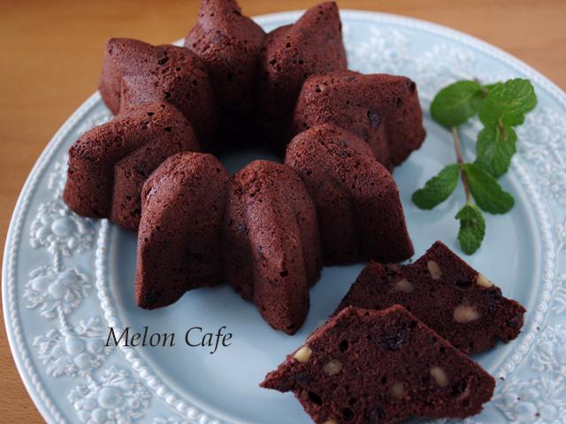 チョコとクルミの男前ケーキ