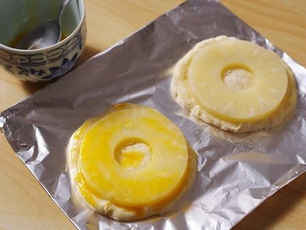 夏のホットケーキミックスパンバナナとパイナップル04