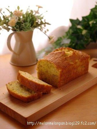 白桃と紅茶のパウンドケーキa