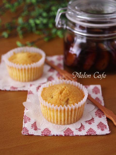 干あんずとバニラのフルブラでカップケーキ