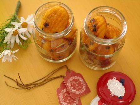 バニラとチョコの瓶詰めミニマドレーヌ