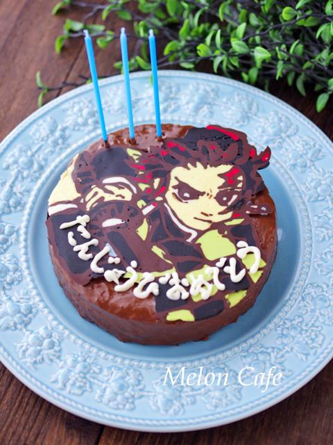 簡単おいしい誕生日のチョコチップ入りココアケーキ01