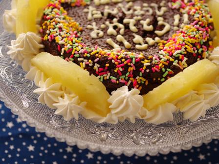 半生ガトーショコラでお誕生日のケーキ03
