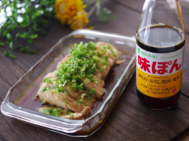 味ぽんで簡単さっぱり鶏チャーシュー温素麺07