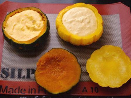ハロウィンかぼちゃのまるごとクリームチーズケーキ09