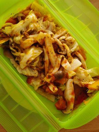 根菜ときのこの簡単ラタトゥイユ