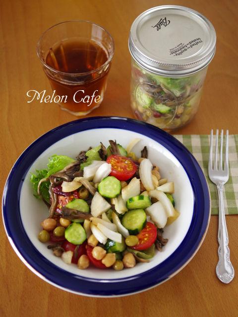 新たまねぎと豆の簡単ジャーサラダ