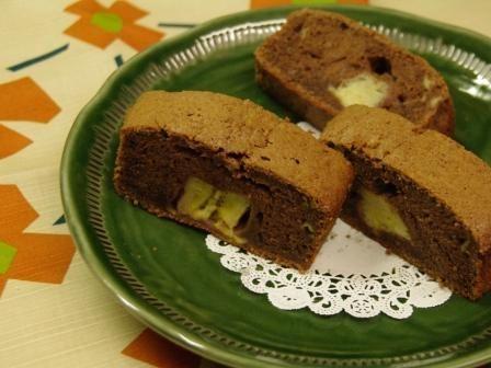 チョコバナナケーキ