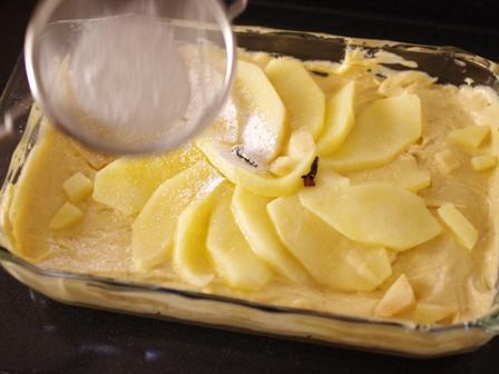 ホットケーキミックスで簡単クリスマスのりんごケーキ05